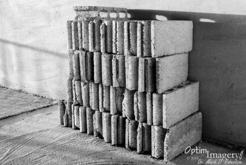 Bricks still awaiting placement.