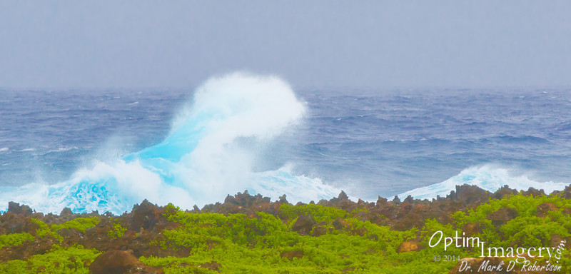 And some of the waves were pretty large yesterday.