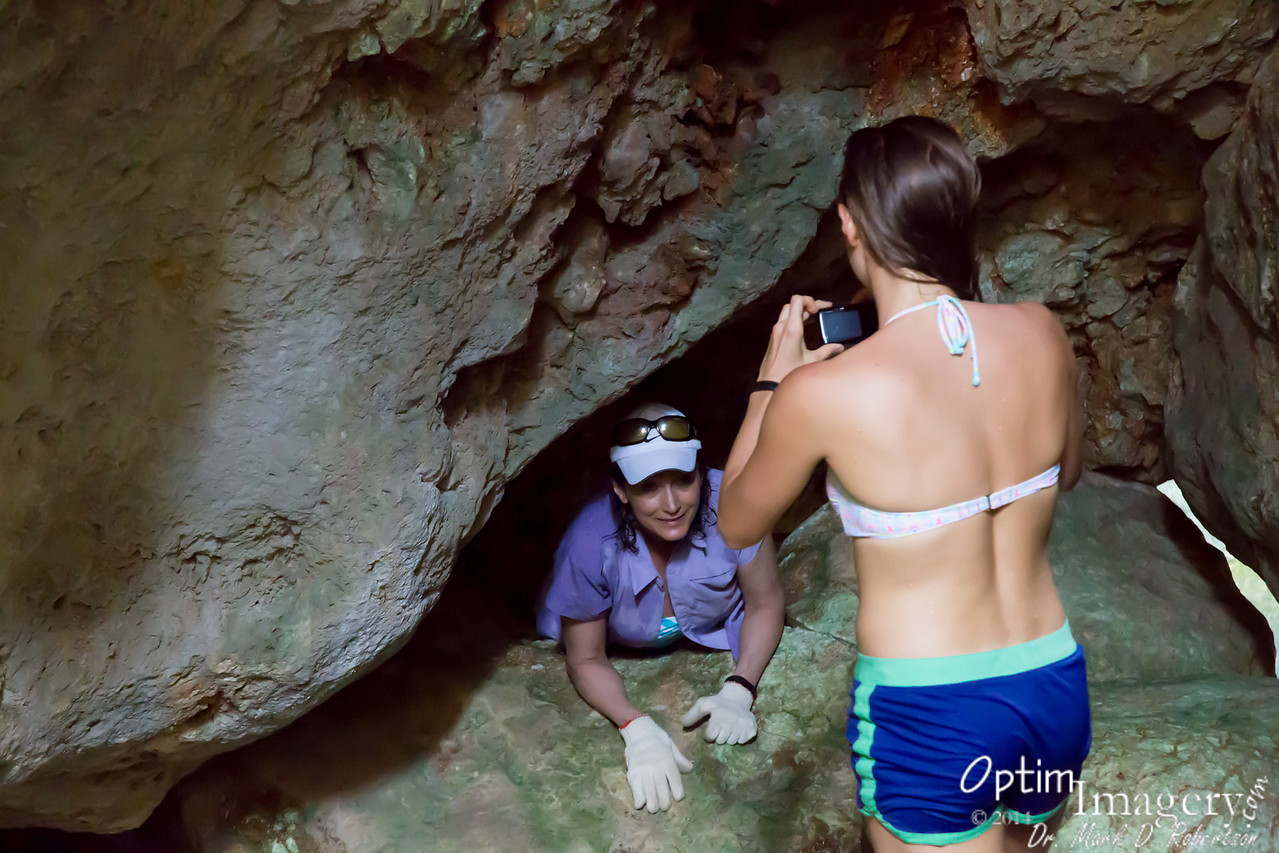 And what does a good daughter do when her Mom gets stuck on a rock?  Grab the camera, of course!