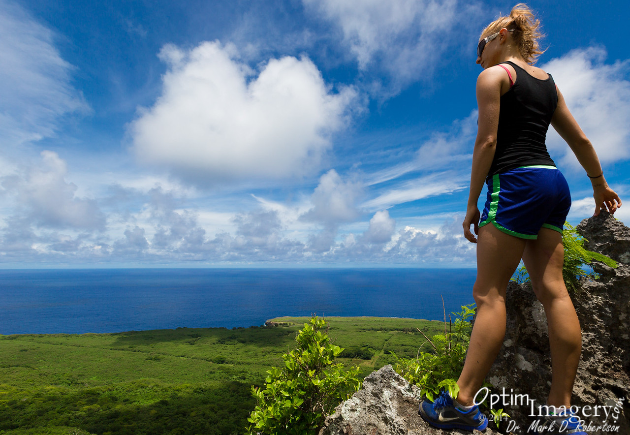 About 100 feet or so from the CIA Tower is one of the most spectacular views on Saipan.