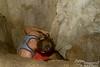 Jordan starts down a different passageway.