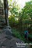 A tall column near the trail.