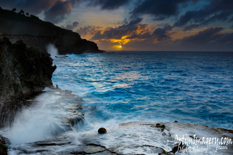 SUN SETTING OVER MANAGAHA ISLAND