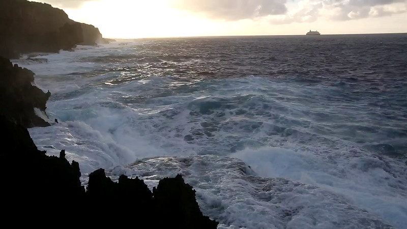 Click on the photo, allow it to buffer a bit, and watch the seas rollin'!