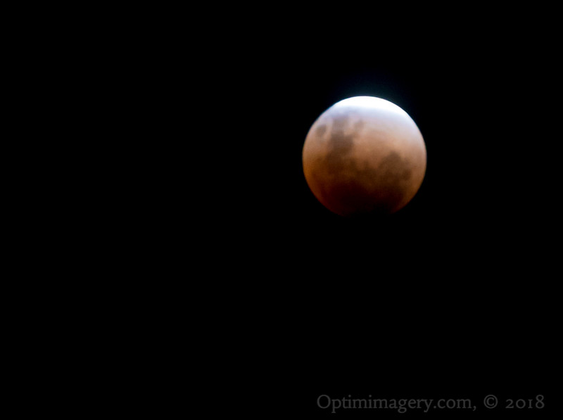 NEARLY ECLIPSED SUPER BLUE BLOOD MOON