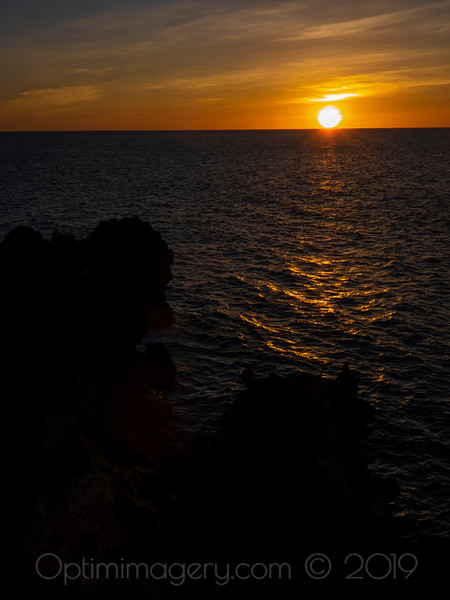 THE SUN KISSES THE PHILIPPINE SEA