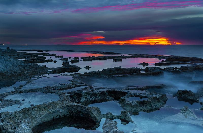 SABANETA SUNSET, GARAPAN, and READINESS SHIPS (lights on the horizon)
