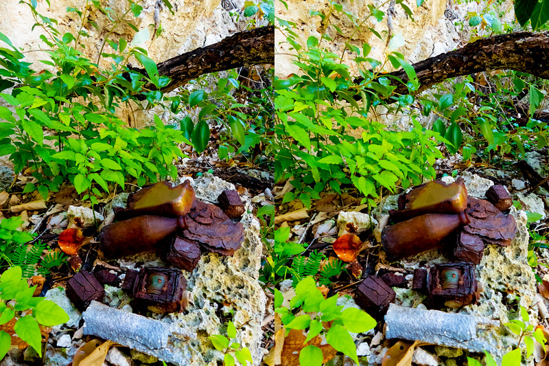 STEREO PHOTO: ARTIFACTS (Some likely from WW II or thereabouts)