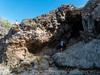 """It doesn't really go back far enough to call it a """"cave,"""" but it is an interesting limestone formation."""