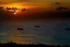 READINESS SHIPS IN SAIPAN LAGOON SUNSET