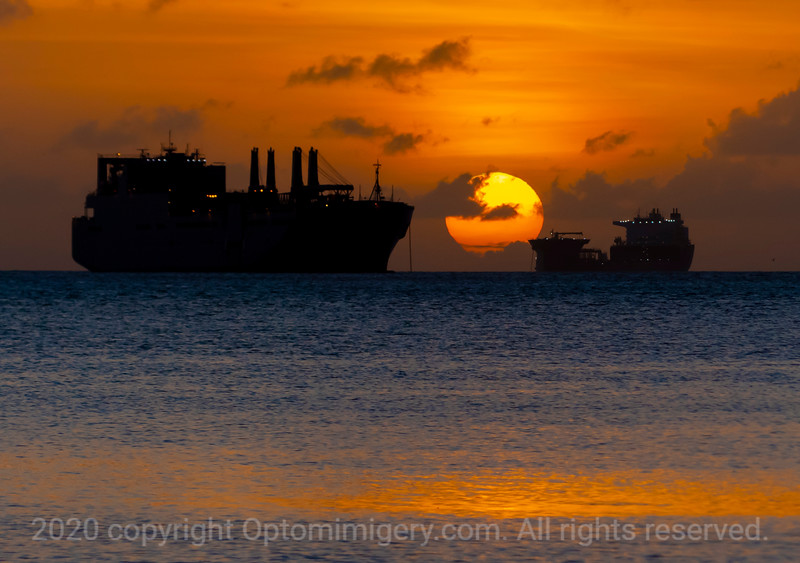 READINESS SHIPS IN THE SUNSET