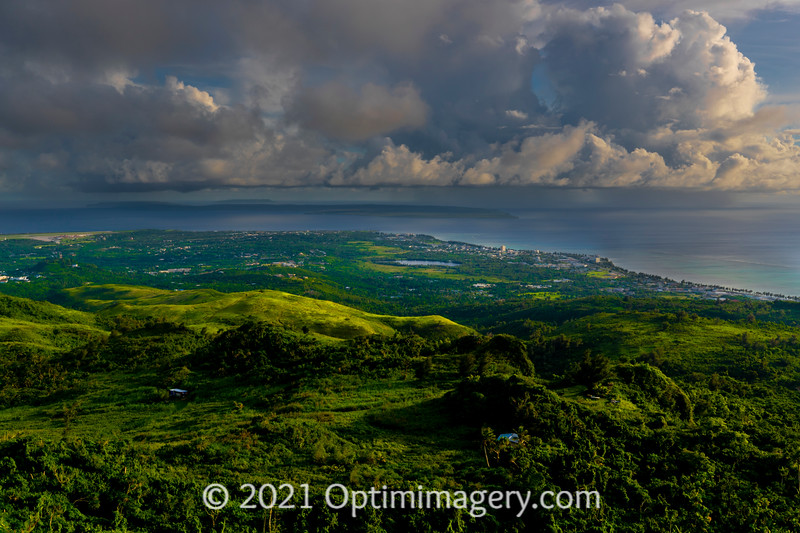 LOOKING SOUTH, OVER SUSUPE, TINIAN, AND AGUIGUAN