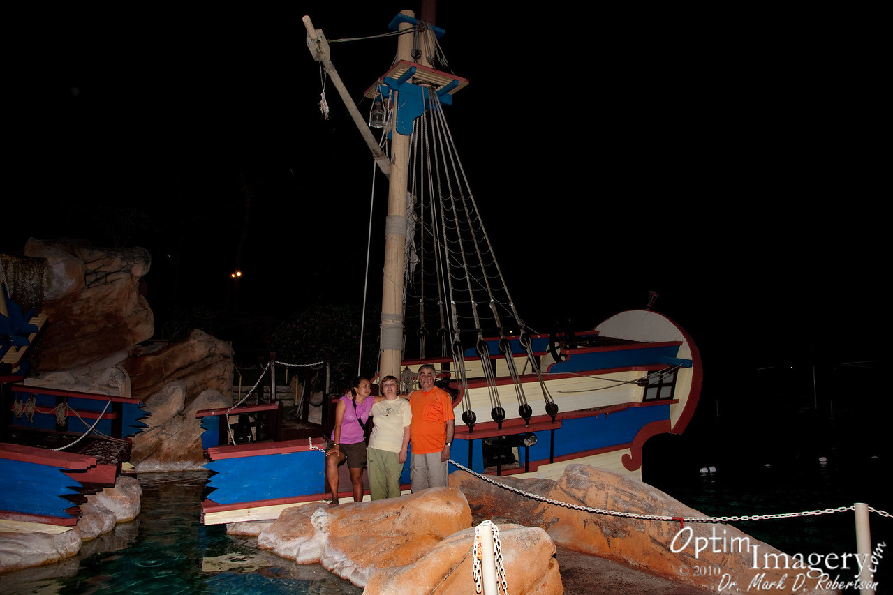 The captain and his family at the shipwreck.
