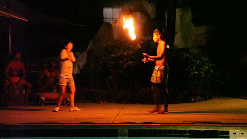 Toward the end, fire-twirlers put on quite a show.