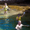 Every other time I have been here there has been a ripping current in this swimming hole.  On this day, with the tide so low that waves were not splashing over the reef, current was nearly nil and it was a very safe and fun spot.