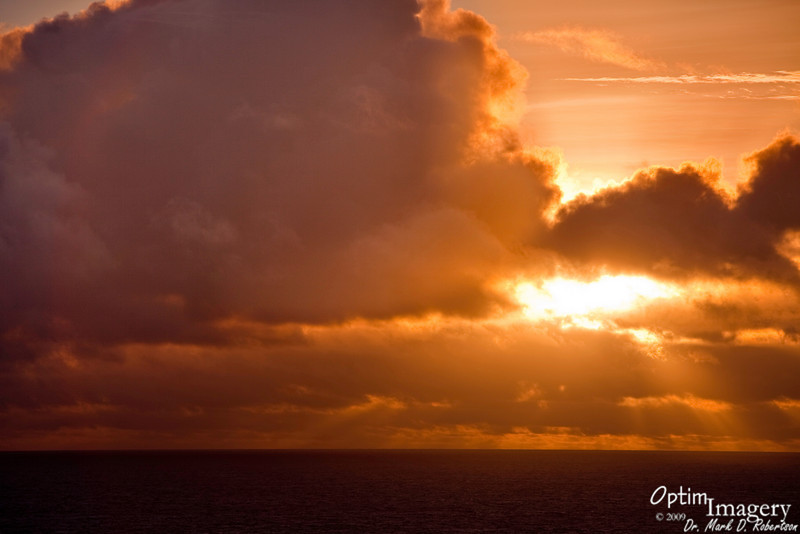 Sunrise at the public Bird Island Overlook.