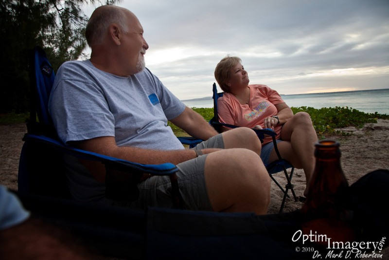 Dennis and Judy in one of their contemplative moments.