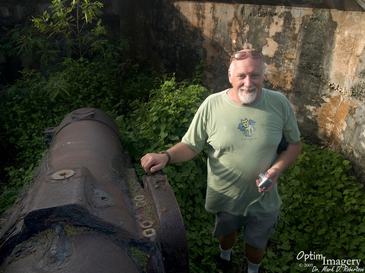 On the other side of Naftan Peninsula is this huge Japanese gun.  Manufactured in England prior to hostilities preceding WWII, it was never fired.<br /> <br /> This gun emplacement is also marked on the map.