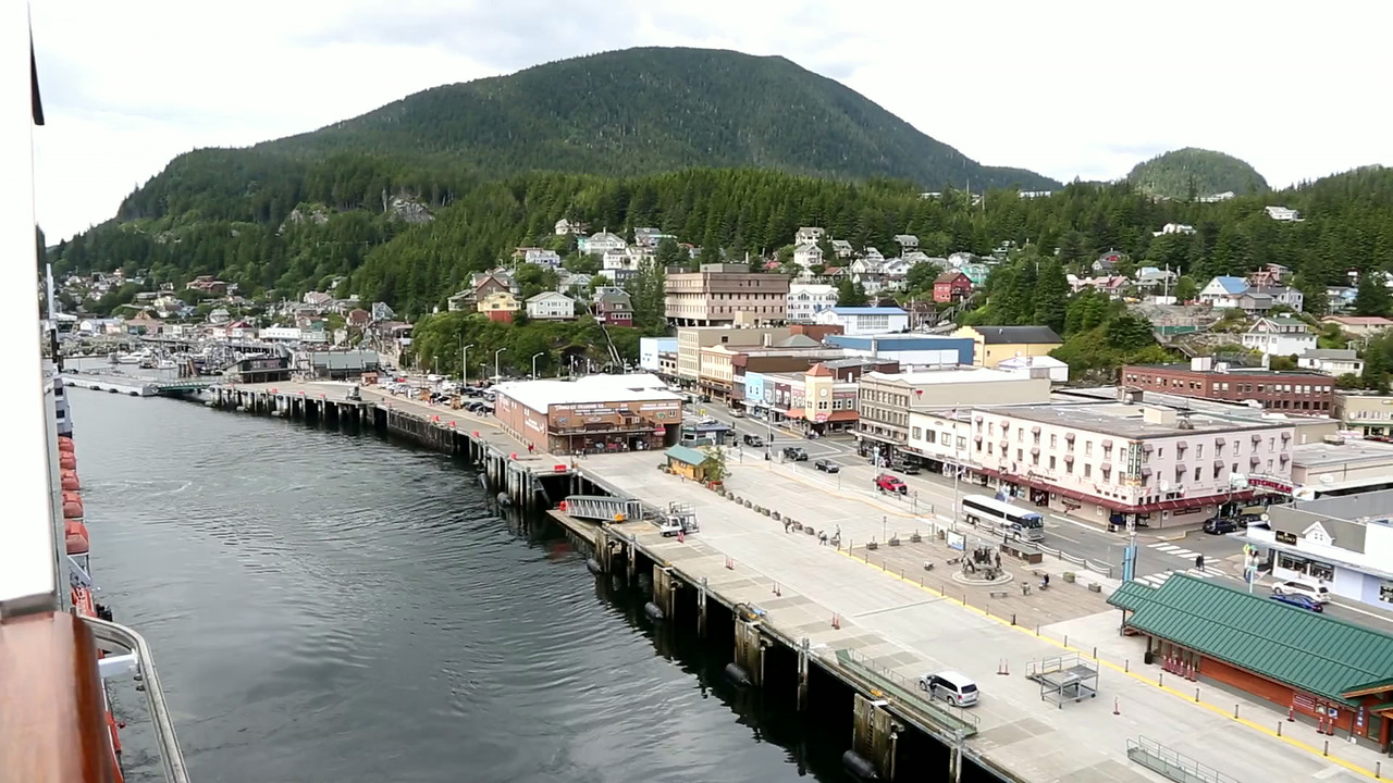 Pulling out from Ketchikan.