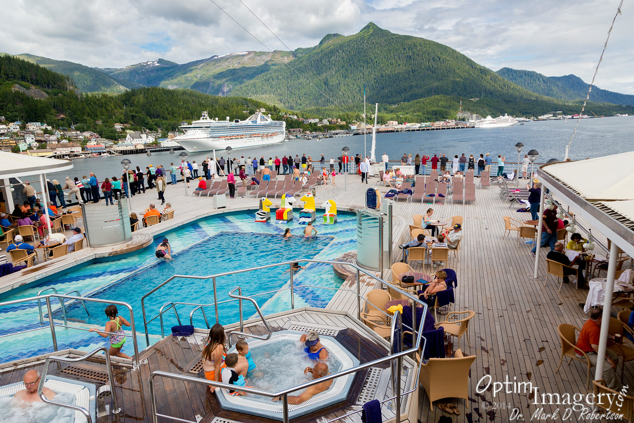 Back on the Lido Deck as the Oosterdam heads toward Juneau!