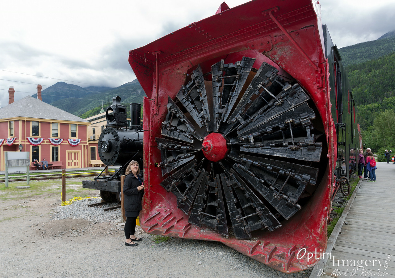 """The number one tourist attraction in Skagway is a narrow guage train running on a route laid out in 1898.  From what I see and hear, it looks like it would be a spectacular ride, with the rail grade rising nearly 3,000 feet in just 20 miles.  You can see more about it at the following link:  <a href=""""http://wpyr.com/"""">http://wpyr.com/</a><br /> <br /> Odd story, though.  Let's start 4 years ago, when Bev, Paul, Zac, Bri, and I were driving through Colorado.  We stopped at Silverton, Colorado, where I wanted to photograph THAT narrow guage train when it arrived in town on its daily run from Durango.  Well, after waiting and waiting, I finally asked one of the locals when the train would pull into town.  He informed me that it would not run that day because there had been avalanches over the rail the previous night.<br /> <br /> Now fast forward to our cruise:  We had tickets for the White Pass Railway to take us up to the summit.  However, upon boarding the Oosterdam in Juneau (the night prior to getting to Skagway), we heard the captain speaking over the intercom, stating that the train would not be running on the day we were arriving in Skagway because it had derailed while we were in Juneau.<br /> <br /> It's my understanding that there were only minor injuries, and I believe that the train ran again the day AFTER we left.  But it seems like a couple of kinda odd coincidences!<br /> <br /> Anyhow, I would like to get back up there sometime and experience that train!"""
