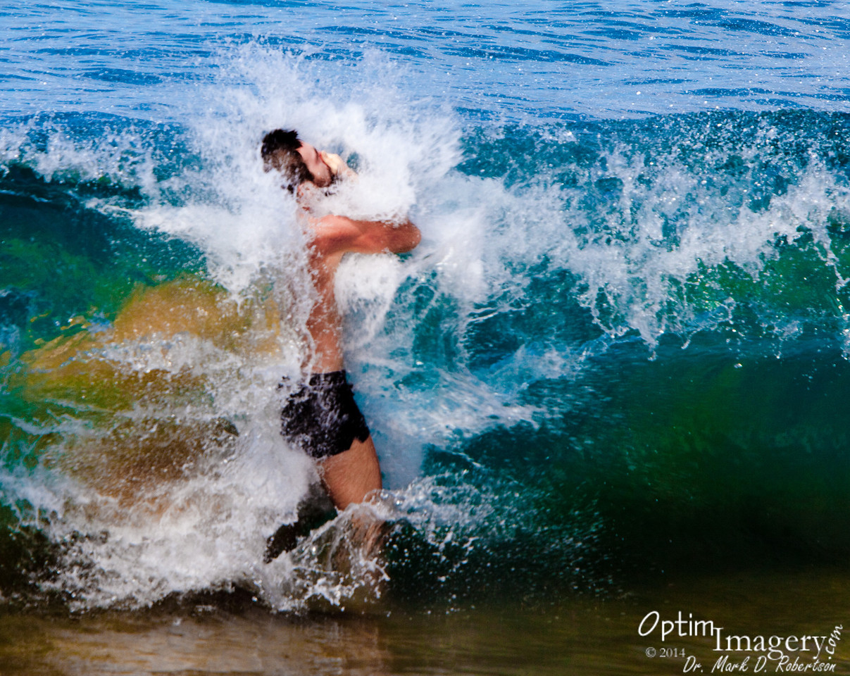 Zac in a Kaanapali wave.