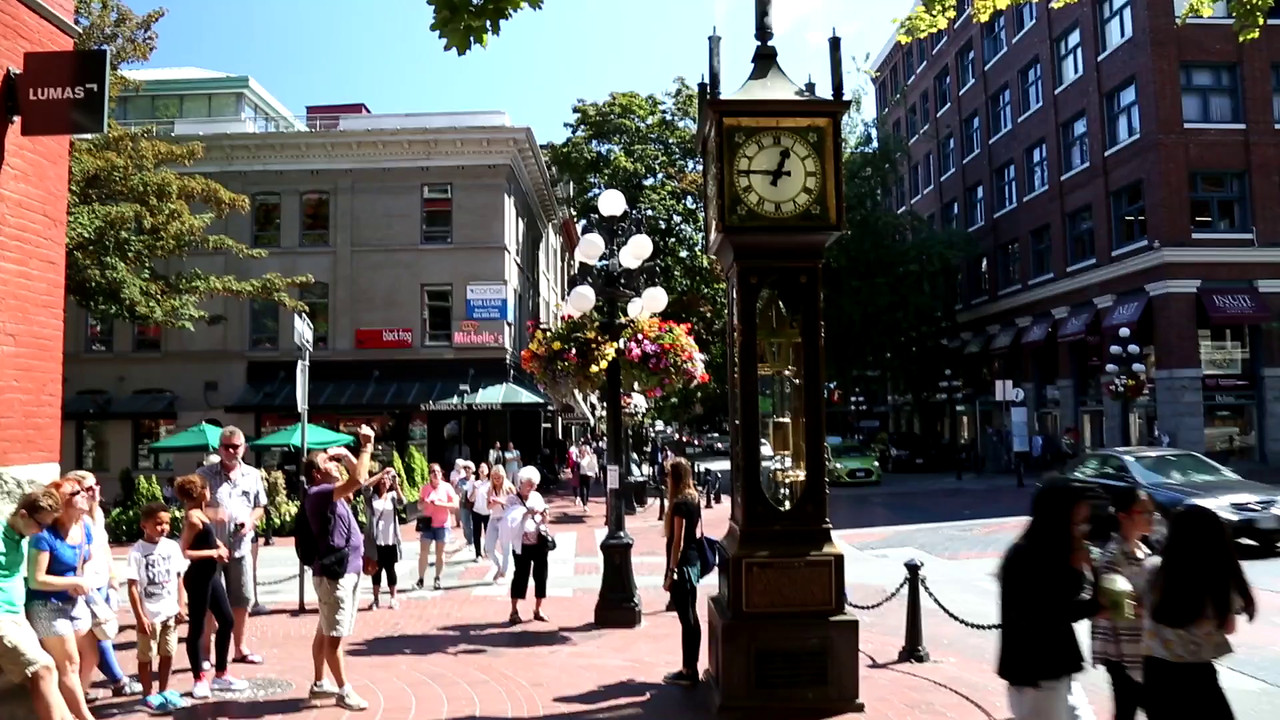 VIDEO:  VANCOUVER (GAS TOWN) STEAM CLOCK IN ACTION