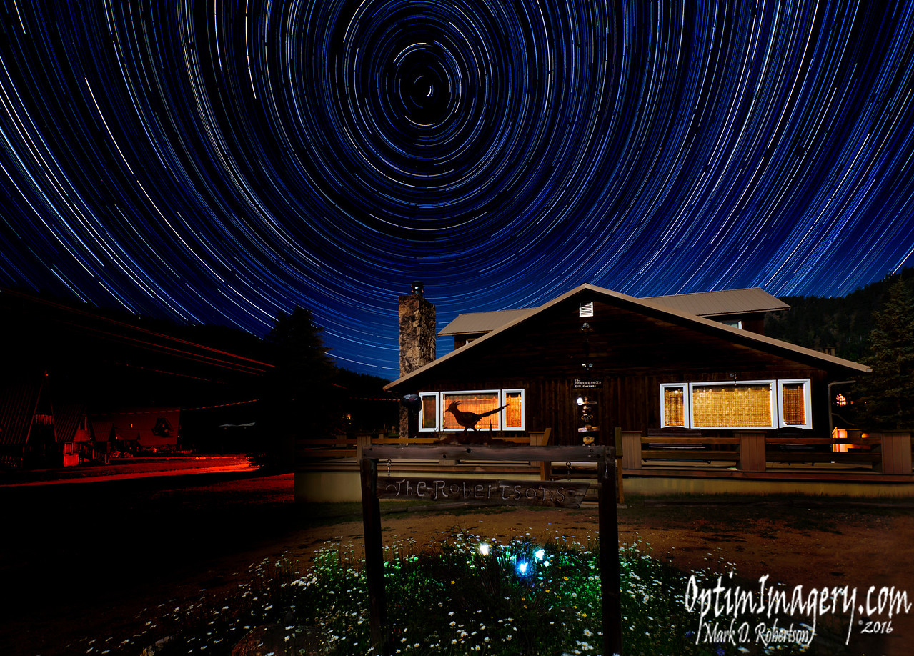 STAR TRAILS OVER ROBERTSON'S ROOST