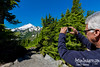 RON GETS A NICE SHOT OF MOUNT BAKER