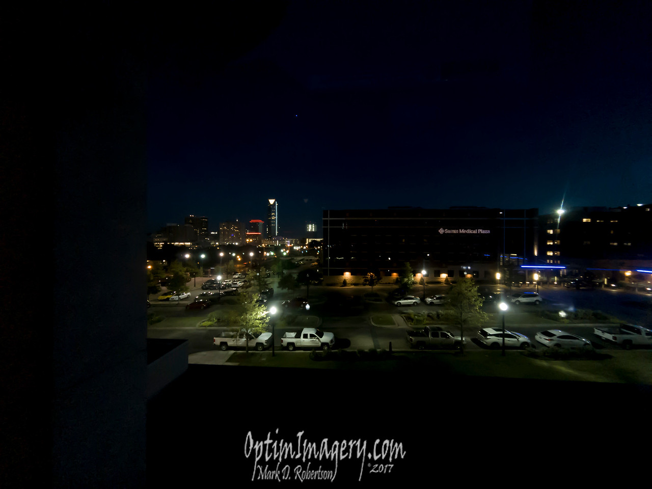 NIGHT VIEW OF OKLAHOMA CITY FROM DAD'S ROOM