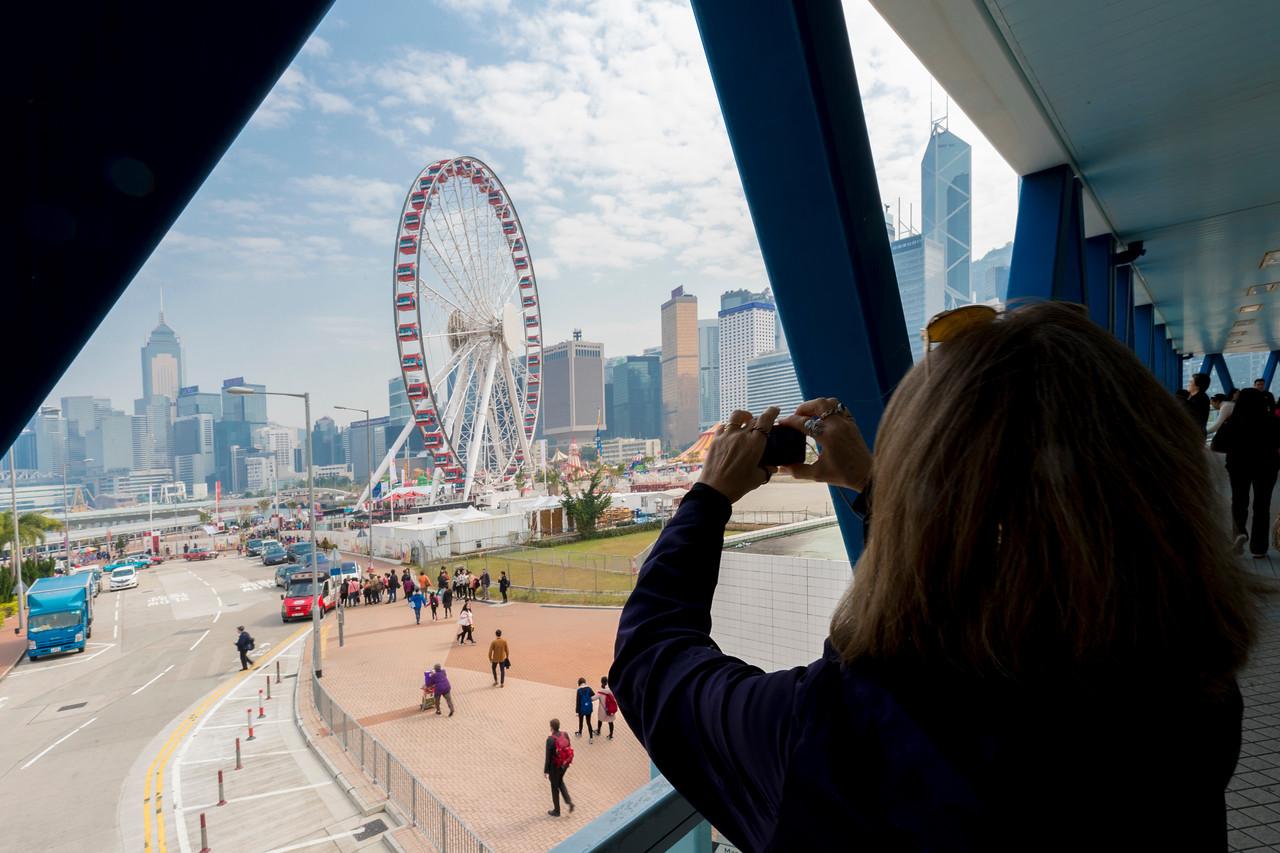 HONG KONG FROM THE ELEVATED WALK WAY