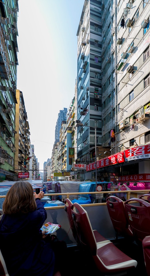 KOWLOON. LADYS' MARKET FROM BIG BUS