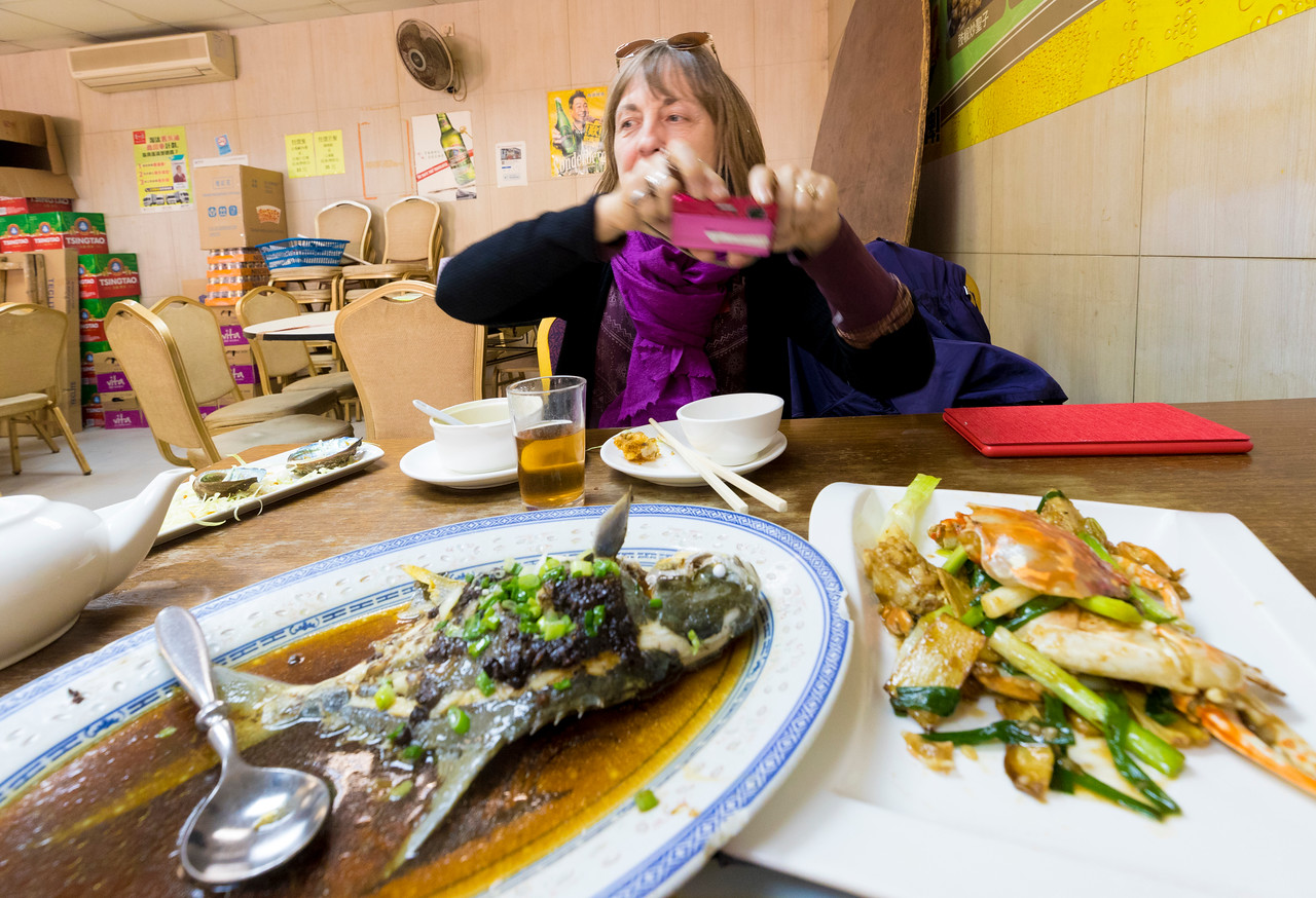 We ordered a set menu, and the food just kept coming. I liked it, but I don't think I was quite as impressed as was Bev. She said that the fish was the best she had ever tasted.