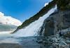 Bev gazes over Nugget Falls toward Mendenhall Glacier.