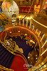 At about the mid-section of the ship is this beautiful 3-story foyer.  See me down there?