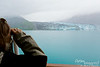 """One of the further south glaciers, perhaps Reid Glacier.<br /> """"He Bev, whatchaa seeing through those binoculars?"""""""