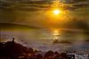 Stepha and the setting sun.