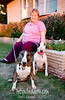 Deloris and her (and my brother's) dogs.