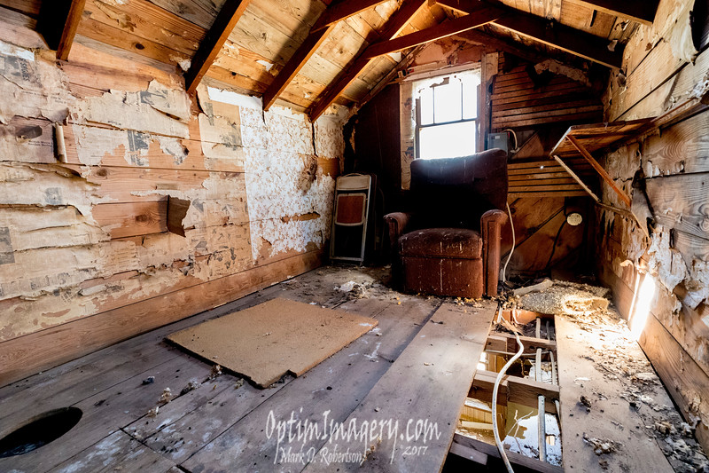 THE ATTIC LOOKING TO MY RIGHT