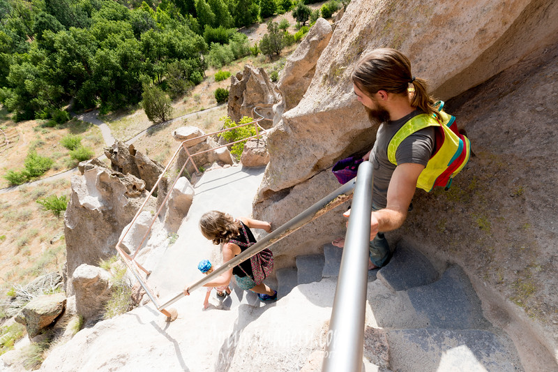 """There are so many ladders and ups and downs along a narrow trail that it's kinda like a natural game of """"Chutes and Ladders.""""  Except that you don't really slide down to places and loose turns."""