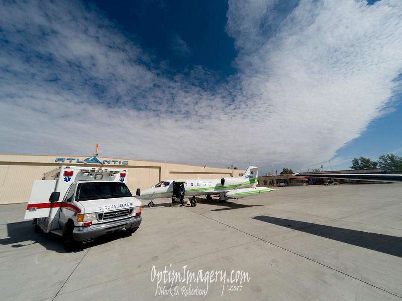 AMBULANCE TO ABQ, THEN LEARJET ON TO OKC