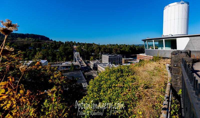 BEV AT THE TOP OF THE OREGON CITY MUNICIPAL ELEVATOR