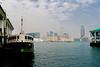 LOOKING NORTH TOWARD KOWLOON FROM HONG KONG DOCKS