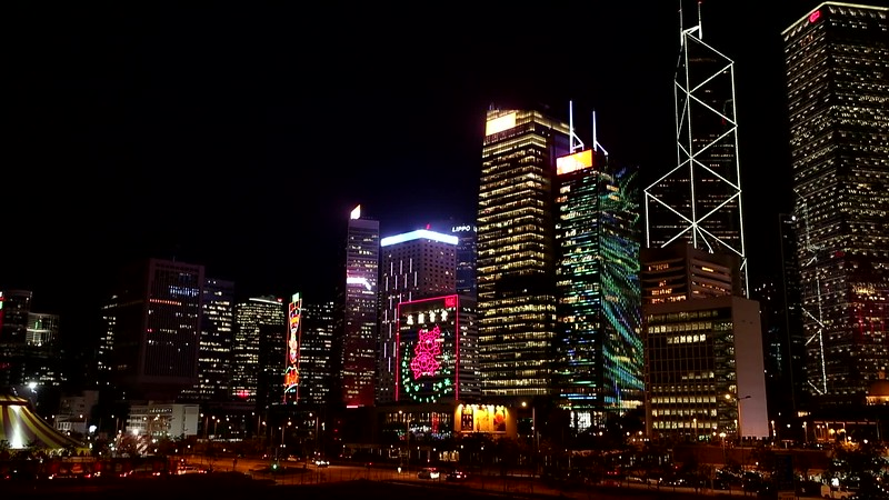 VIDEO: NIGHT TIME ALONG THE SOUTH SHORE OF VICTORIA HARBOR