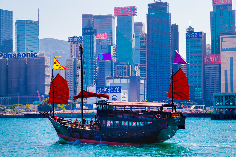 STAR FERRY CRUISE, VICTORIA HARBOUR, HONG KONG