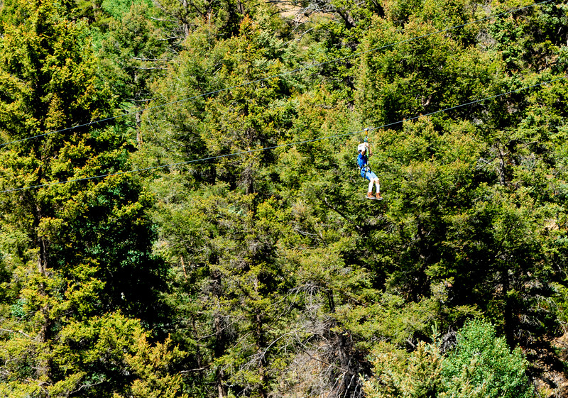 TAYLOR ON THE ZIP LINE!