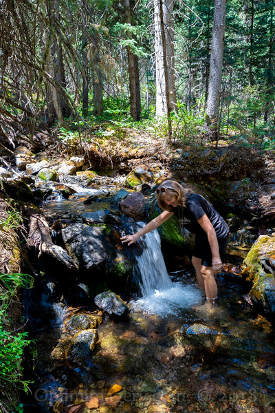 You can't keep Bev out of a mountain creek!