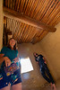 PUEBLO BONITO. SAME ROOM. LOOKING AT THE CEILING