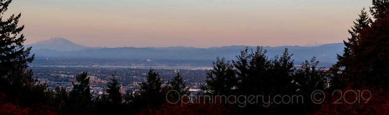 THE THREE GIANTS FROM COUNCIL CREST PARK, PORTLAND, OR