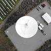 FLYING AROUND THE RADIO TELESCOPE AND RIVER